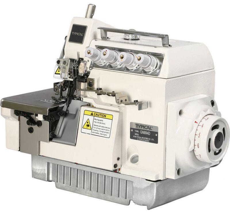 Четырехниточный промышленный оверлок с экономичным встроенным сервомотором и LED-подсветкой Typical GN894D