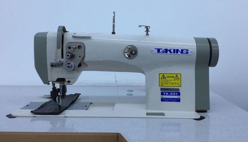 Одноигольная машина с унисонным продвижением материала (ролик-ролик) для тяжелых материалов Taking ТК-551