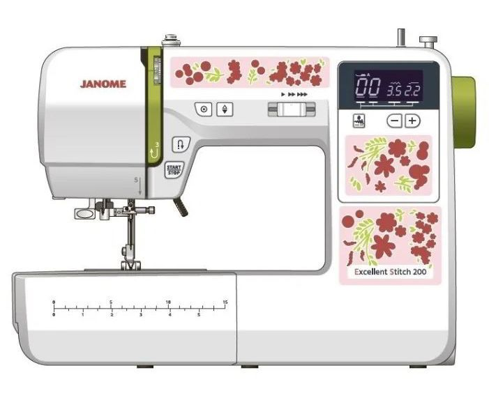Швейная машина JANOME Excellent Stitch 200